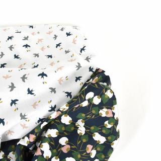 Pépites ✨  Nous vous présentons kisnek et mesao : deux petits cotons qui se marient à merveille disponibles en exclusivité sur le site internet !  PS : ces cotons rentrent dans la promo « PRIX RONDS » : ils sont donc à 6 € le mètre seulement comme touuuuus les cotons du site internet et du magasin ! 🎉  #tissu #tissucoton #coutureaddict #couturedebutant #tissusaddict #instacouture #tissucousette #jecoudsdoncjesuis #passioncouture #sewingaddict #cotonfleuri